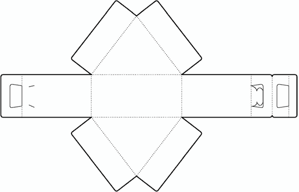 Triangle Box | Free Box Templates Store