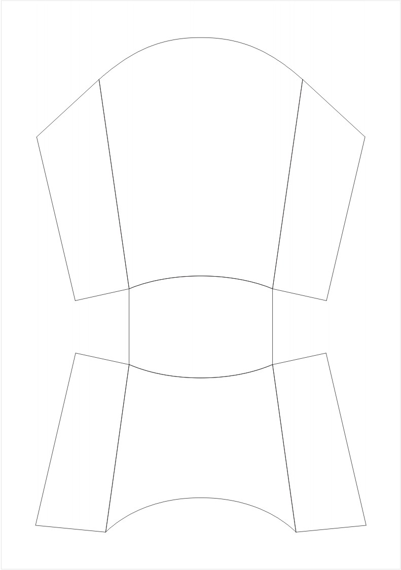 Fry Box Pattern Template