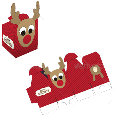 A christmas gift packaging template
